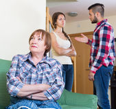 Family quarrels with the husbands mother. Adult family quarrels with the husbands mother Stock Photo