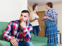 Family quarrels with the husbands mother Stock Image