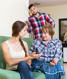 Family quarrels with the husbands mother. Adult russian family quarrels with the husbands mother Stock Photo