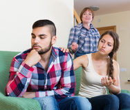 Family quarrels with the husbands mother. Russian family quarrels with the husbands mother Stock Images