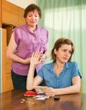 Family quarrels about money Stock Photos
