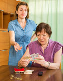 Family quarrels about money Royalty Free Stock Photography