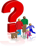 Family question mark Royalty Free Stock Images