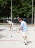 Family Racquetball Game Stock Photography
