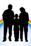 Family rainbow Royalty Free Stock Photos