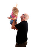 Family - raising small daughter father Royalty Free Stock Image