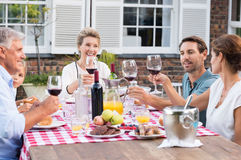 Family raising a toast Royalty Free Stock Images