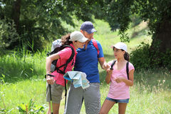 Family rambling in the countryside Royalty Free Stock Photos