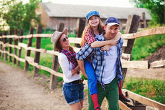 Family ranch royalty free stock image