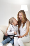 Family read Royalty Free Stock Photography
