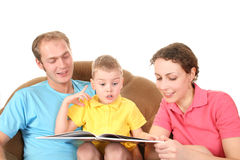 Family  read book Stock Image