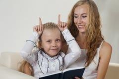 Family read Stock Photo
