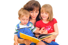 Family reading Royalty Free Stock Photo