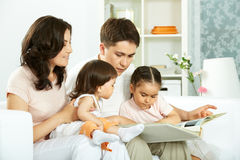 Family reading Stock Photo