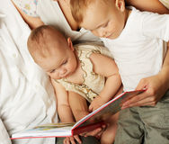 Family reading Royalty Free Stock Image