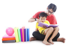 Family Reading Time Stock Photography