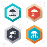Family, Real estate or Home insurance icon Royalty Free Stock Images