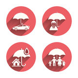 Family, Real estate or Home insurance icon Stock Images