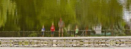 Family Reflection Stock Photo