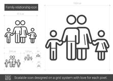 Family relationship line icon. Stock Photography