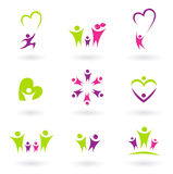 Family, relationship & people icon collection stock illustration