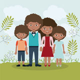 Family relationship portrait design Royalty Free Stock Image
