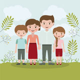 Family relationship portrait design Royalty Free Stock Images