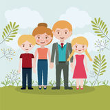 Family relationship portrait design Stock Images