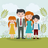 Family relationship portrait design Royalty Free Stock Photography