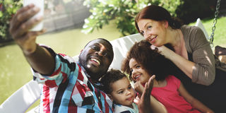 Family Relax Happiness Selfie Photo Concept stock images