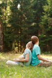 Family relax in nature Stock Photography