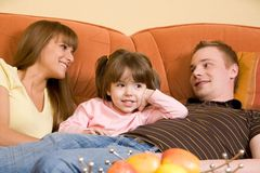 Family relaxing Royalty Free Stock Photography