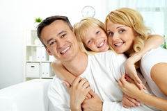 Family relaxing Stock Image