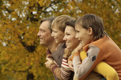 Portrait of happy family relaxing Stock Photos