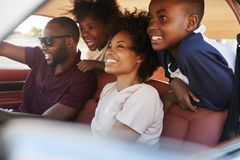 Family Relaxing In Car During Road Trip royalty free stock photos