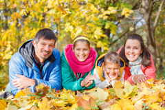 Family relaxing in park Stock Image