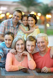 Family relaxing at resort Royalty Free Stock Images