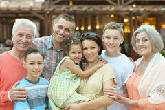 Family relaxing at resort Royalty Free Stock Photography