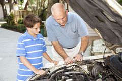 Family Repair Project Royalty Free Stock Photo