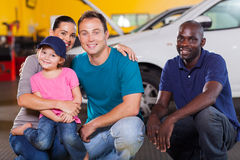 Family repair shop Royalty Free Stock Photo