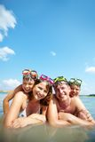 Family on resort Stock Photography