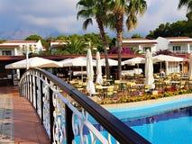 Family resort in Kemer, Mediterranean sea, Turkey royalty free stock image
