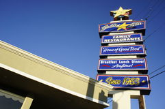 Family Restaurant. The Golden Star, a Family restaurant right at the corner of cherry Avenue and Carson in Long Beach, CA Royalty Free Stock Photos