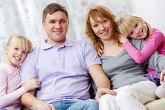 Family resting Stock Photo