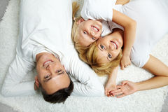 Family resting Stock Image