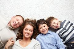 Family resting Royalty Free Stock Photos
