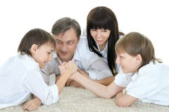 Family resting at home Royalty Free Stock Image