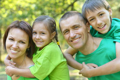 Family resting in  summer park Royalty Free Stock Photography