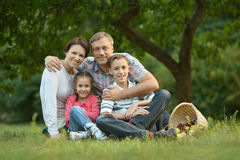 Family resting in  summer park Stock Image