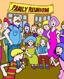Family Reunion. Family gets together for a reunion royalty free illustration